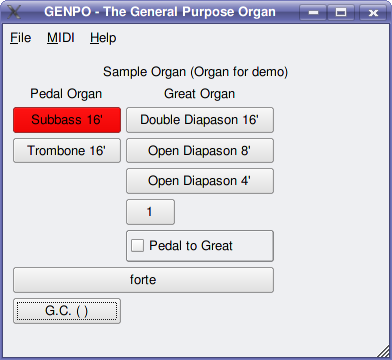 Sample Organ screenshot